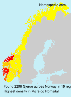 Surname Gjerde in Norway