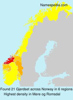 Surname Gjerdset in Norway
