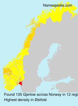 Familiennamen Gjerlow - Norway