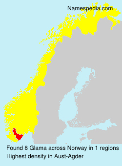 Surname Glama in Norway