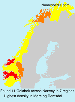 Familiennamen Golabek - Norway