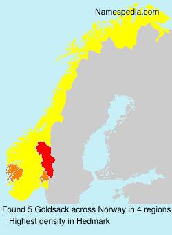 Surname Goldsack in Norway