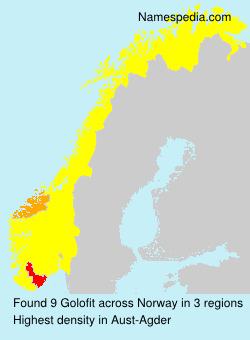 Familiennamen Golofit - Norway