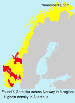 Surname Goralska in Norway