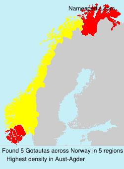 Surname Gotautas in Norway