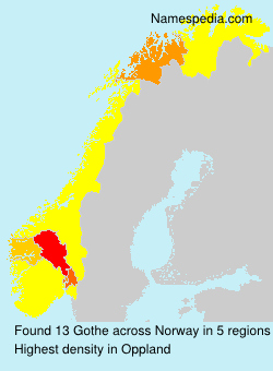 Surname Gothe in Norway
