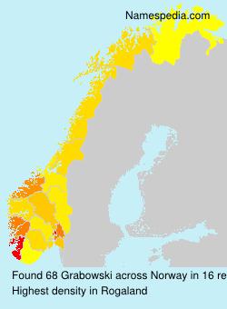 Surname Grabowski in Norway