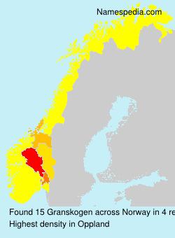 Familiennamen Granskogen - Norway