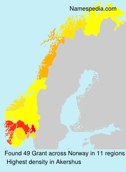 Surname Grant in Norway