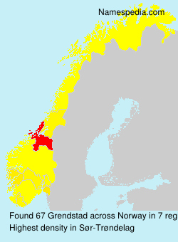 Surname Grendstad in Norway
