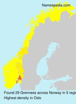 Surname Grenness in Norway