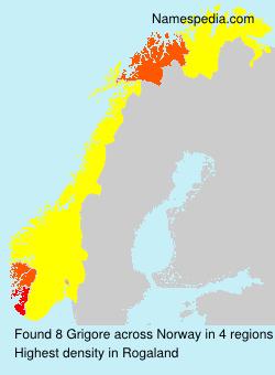 Familiennamen Grigore - Norway