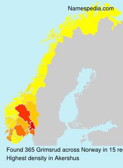 Surname Grimsrud in Norway
