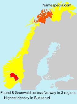 Surname Grunwald in Norway