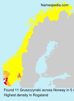 Familiennamen Gruszczynski - Norway