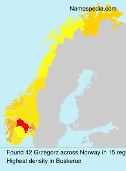 Surname Grzegorz in Norway