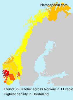 Surname Grzelak in Norway
