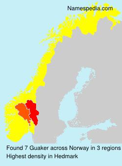 Familiennamen Guaker - Norway