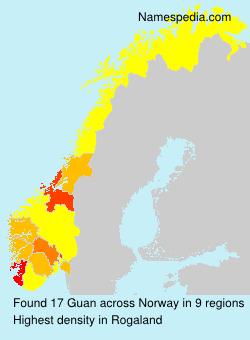 Surname Guan in Norway