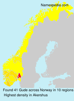 Surname Gude in Norway