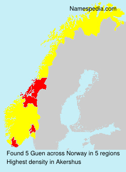 Surname Guen in Norway