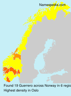 Surname Guerrero in Norway