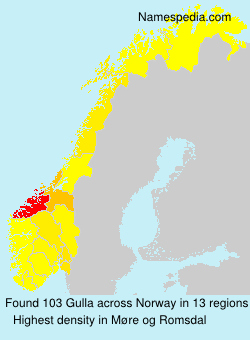 Surname Gulla in Norway