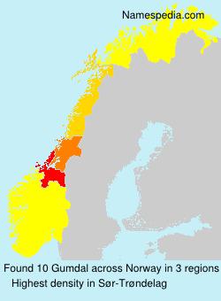 Surname Gumdal in Norway