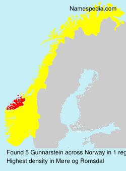 Familiennamen Gunnarstein - Norway