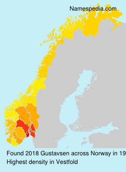 Surname Gustavsen in Norway