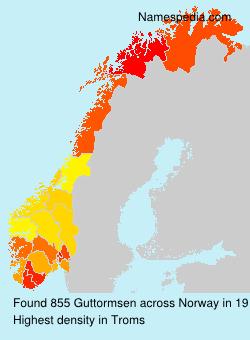 Familiennamen Guttormsen - Norway