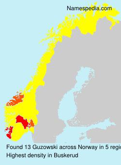 Surname Guzowski in Norway