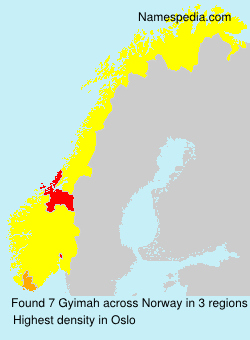 Surname Gyimah in Norway