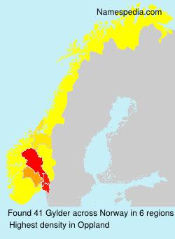 Familiennamen Gylder - Norway