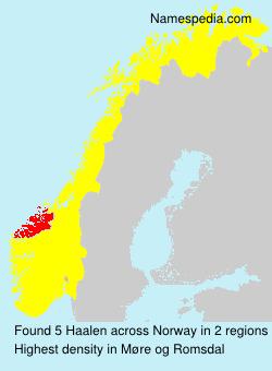 Surname Haalen in Norway