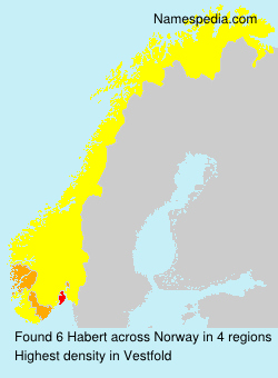 Surname Habert in Norway