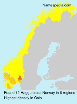 Surname Hagg in Norway