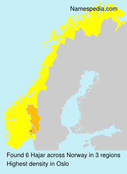 Surname Hajar in Norway