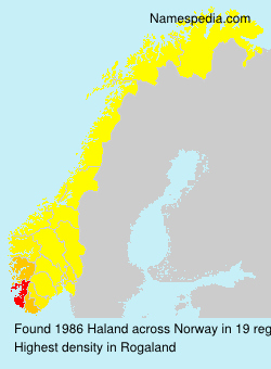 Surname Haland in Norway