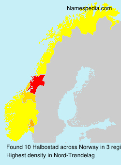 Surname Halbostad in Norway