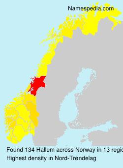 Surname Hallem in Norway
