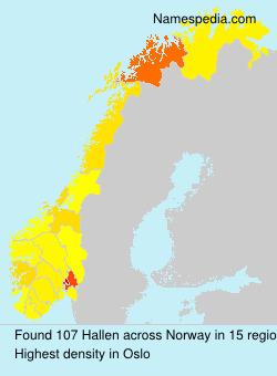 Surname Hallen in Norway