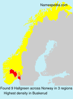 Surname Hallgreen in Norway