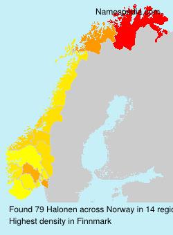 Familiennamen Halonen - Norway