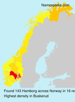 Familiennamen Hamborg - Norway