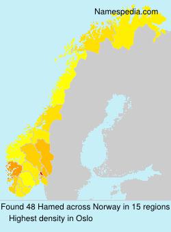Surname Hamed in Norway