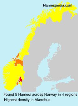 Familiennamen Hamedi - Norway