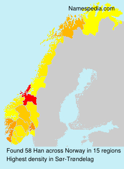 Surname Han in Norway
