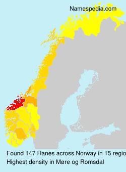 Surname Hanes in Norway