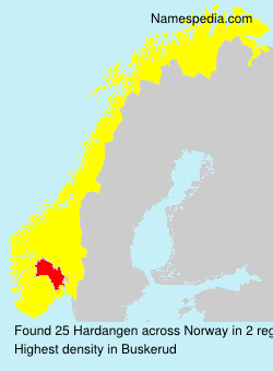 Surname Hardangen in Norway